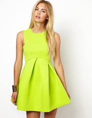 CHIC Neon Major Structured Skater Dress (2 colors available) – Glamzelle