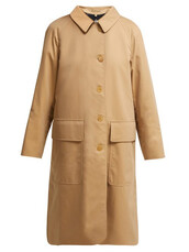 coat,trench coat,cotton,beige