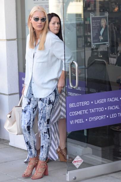 2e1230ee8387 blouse, shirt, iggy azalea, sandals, pants, sunglasses, shoes ...