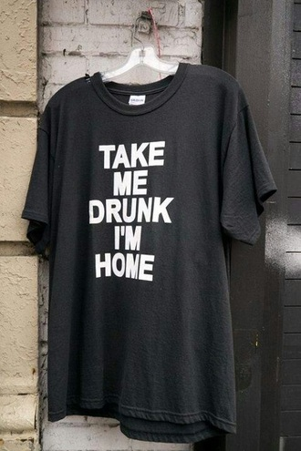 shirt black tumblr funny shirt funny party drink