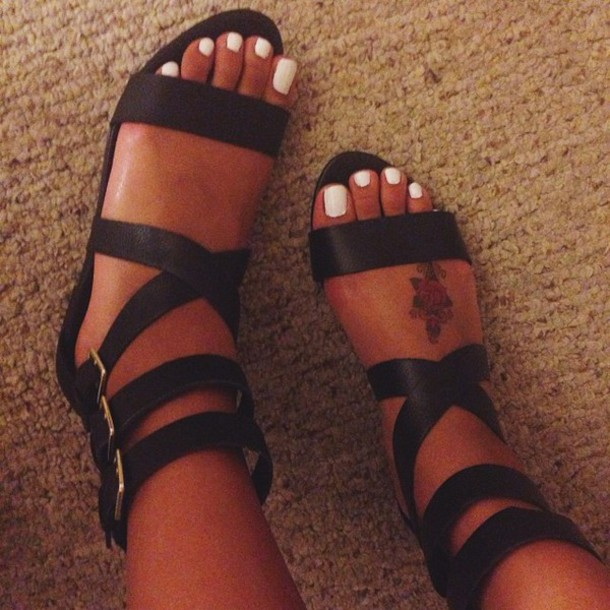 94edaca0e black sandals strappy sandals shoes black sandals style gladiators black  shoe flats summer outfits cute high