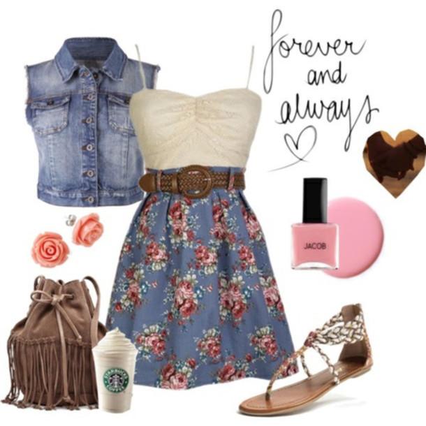 dress bag blouse jcpenneys floral cream dress