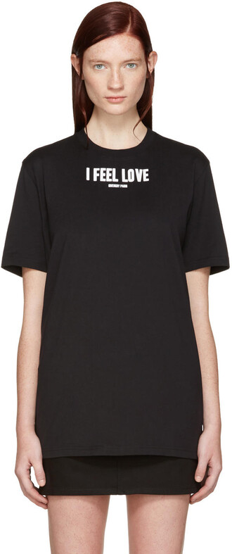 t-shirt shirt love black top