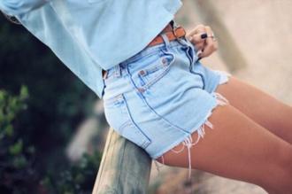 shorts t-shirt denim shorts pants