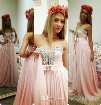 formal 2014 cheap prom gowns crystal quartz bridesmaid