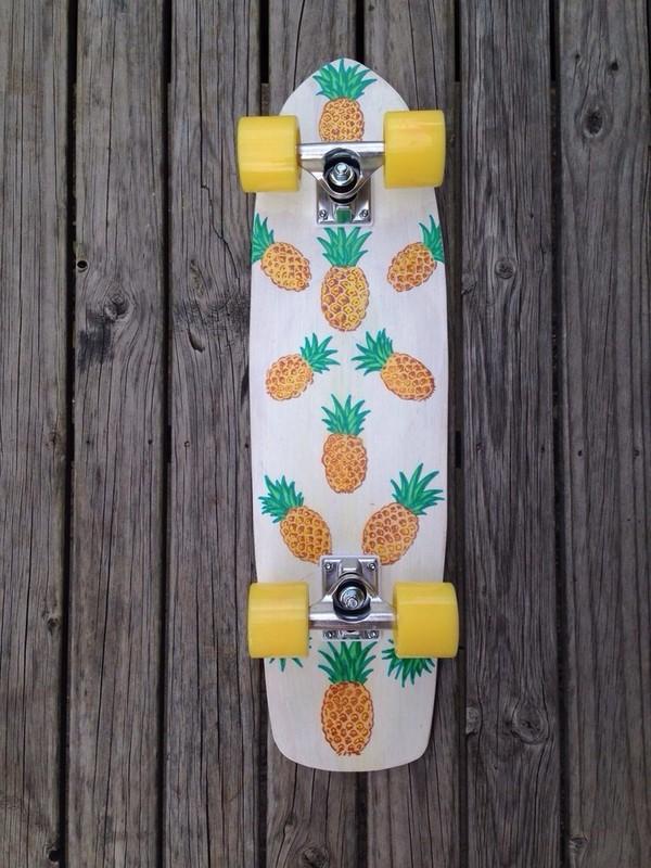 pineapple skateboard skateboard pineapple skating skater hater skater hater penny board