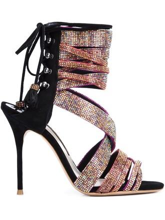 tassel sandals black shoes