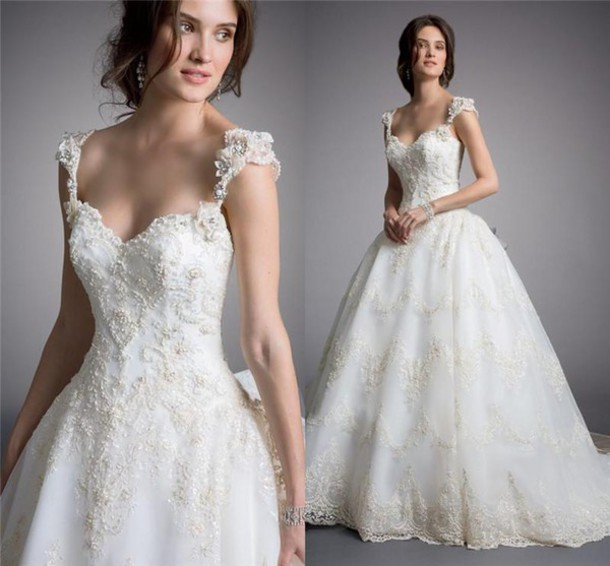 dress, 2016 eve of milady wedding dresses, beaded lace wedding ...
