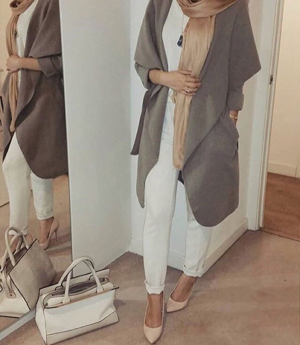 coat trench coat hijab