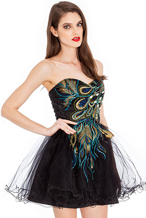 Peacock Prom Dress