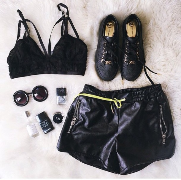 underwear bralette black lace