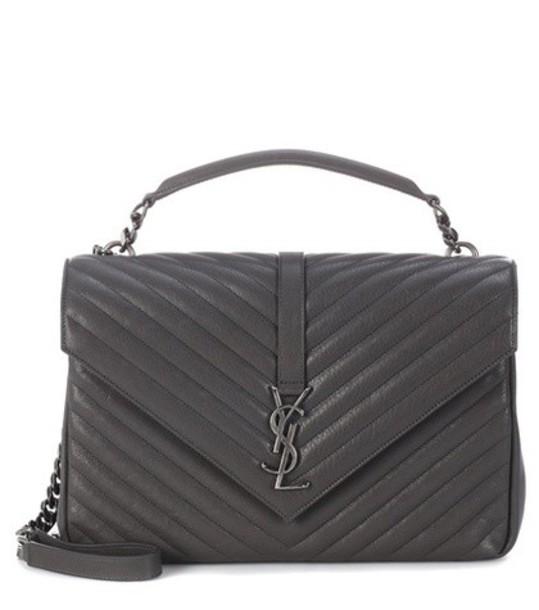 Saint Laurent bag shoulder bag leather grey