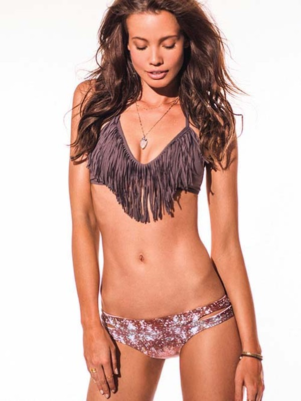 swimwear l space 2014 l space swimwear fringe bikini swimsuit 2014 fashion beach bikini 2014 halter top