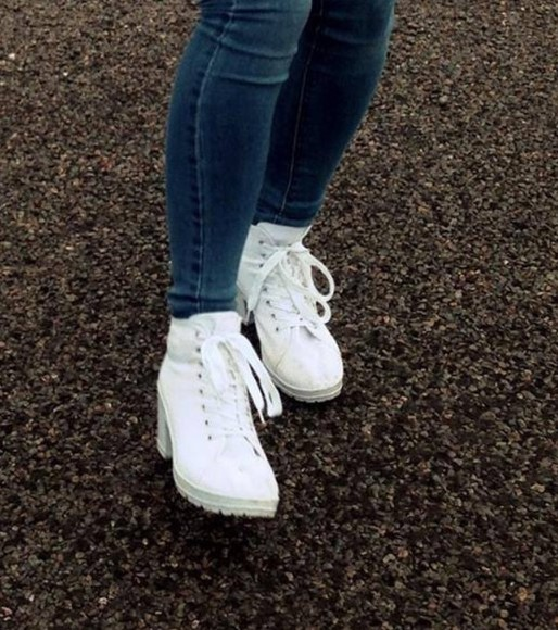 high heels lace up wedges running shoes sweatpants white heels platform shoes style