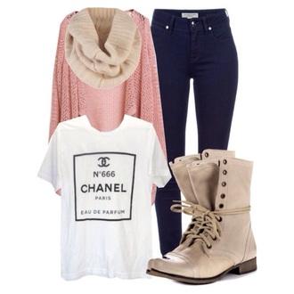 t-shirt chanel t-shirt tshirt classy