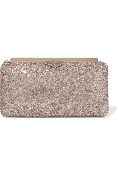 Jimmy Choo clutch satin blush bag
