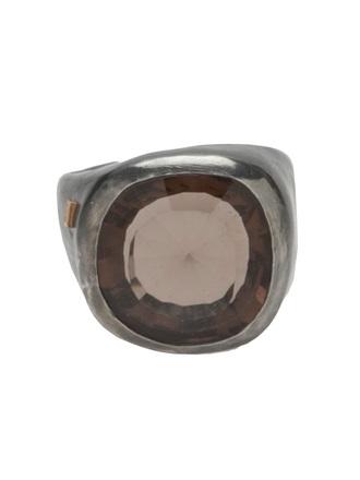 jewels rosa maria silver ring silver ring smokey quartz quartz