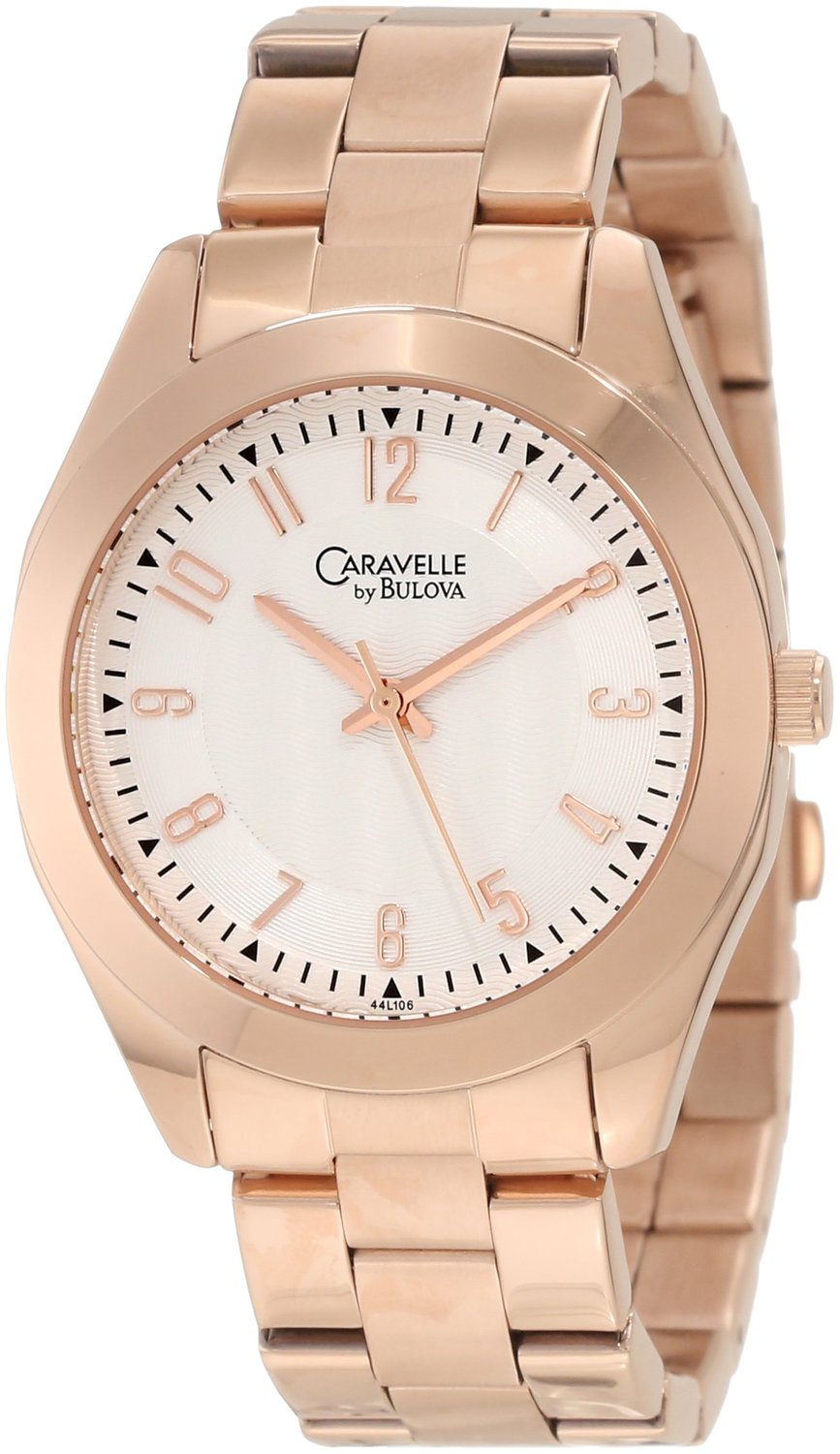 Amazon.com: Caravelle by Bulova Women's 44L106 Classic Rose Gold-Tone Watch: Watches