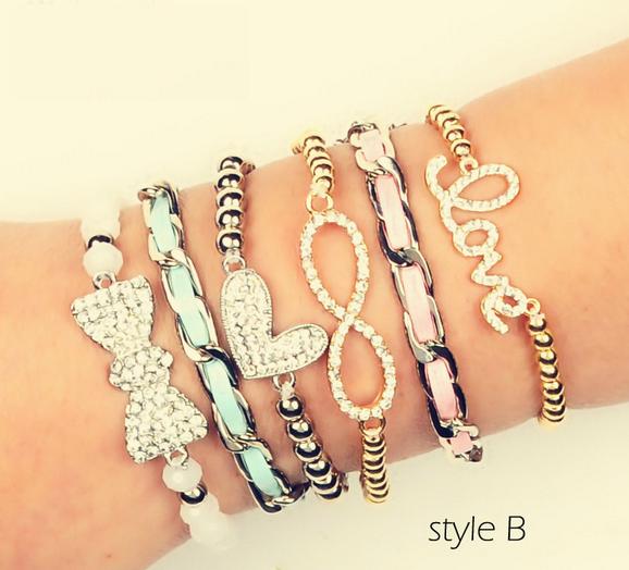 Infinite Love bracelets