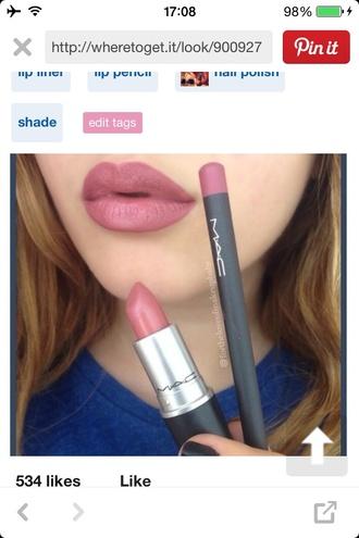 make-up lip liner mac cosmetics lipstick