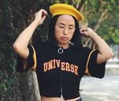 t-shirt,short sleeve,yellow,black,croptoptshirt