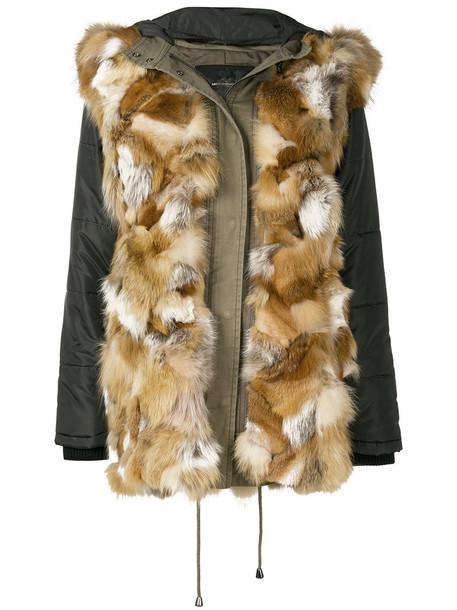 ASH coat fur fox women cotton brown