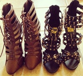 heels,brown heels,high heels,studded,fashionista,shopaholic,blogger,blogs,followers,chic,shoes,studded heels,laced up heels,black heels,sandals,studded shoes,blogspot,instagram,style,sexy heels