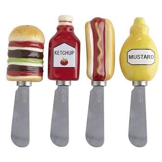 home accessory food kitchen funny hot dog hamburger ketchup