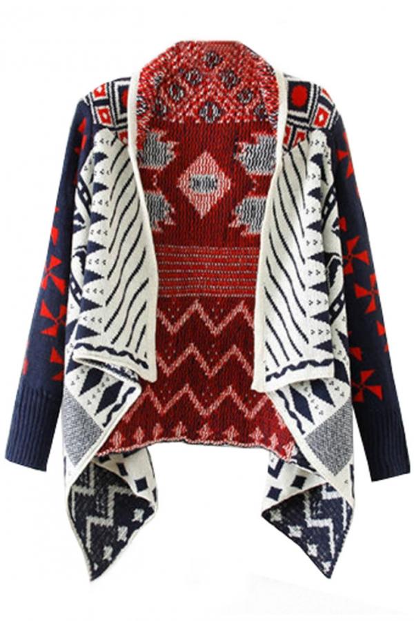 Fancy Open-Front Knit Cardigan - OASAP.com