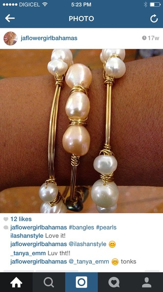 jewels beads pearls bracelets gold bangles bahamas wire pearl bracelets