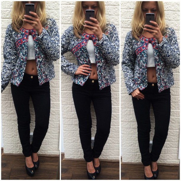 Jacket: ikandi boutique, retro, vintage, floral, winter jacket ...