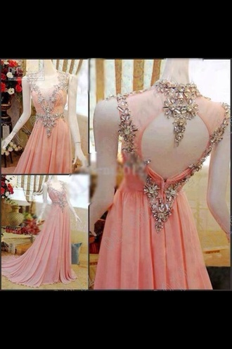 dress prom dress long prom dress 2014 prom dresses pink sparkle dress sparkly dress long pink dress pink prom dress