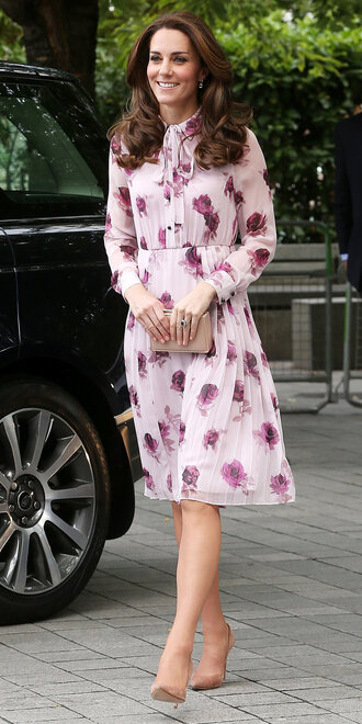 jacket floral floral dress kate middleton midi dress dress