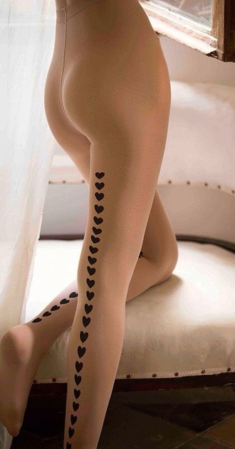 tights patterned tights heart hearts tights tattoo tights