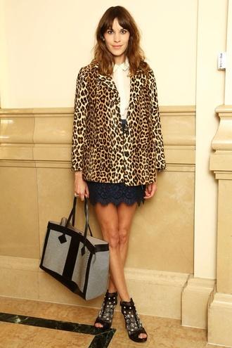 coat alexa chung leopard print