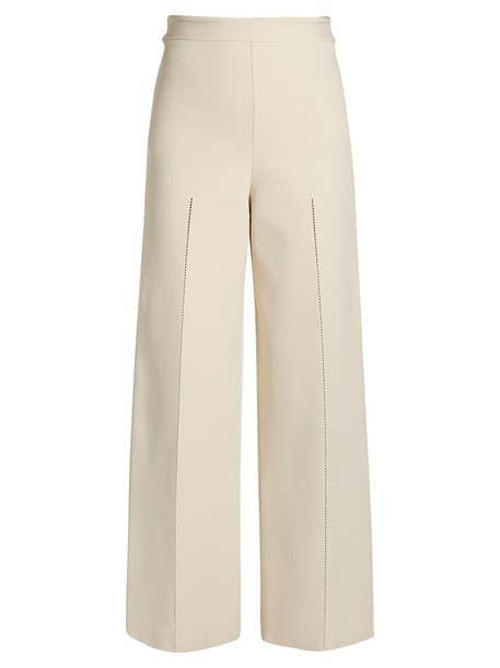 The Row knit beige pants