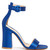 Block-heel satin sandals
