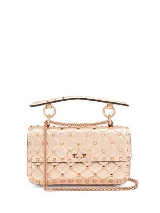 quilted bag shoulder bag leather rose gold rose gold
