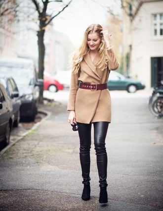 passions for fashion blogger belt jewels camel fall outfits coat pants shoes