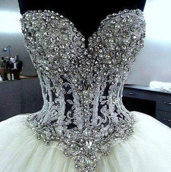 dress wedding dress diamonds fashion elegant