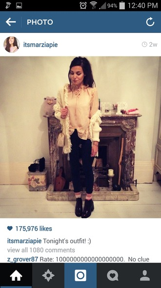 jacket cute tassel frilly coat pretty marzia hot girl cutepiemarzia cutiepiemarzia white cream pink blouse tie light dark long short black pants top shirt sweater jumper cardigan shoes