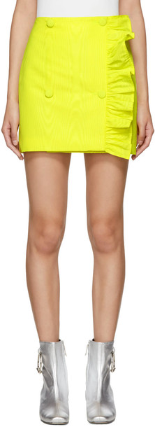 MSGM miniskirt yellow skirt