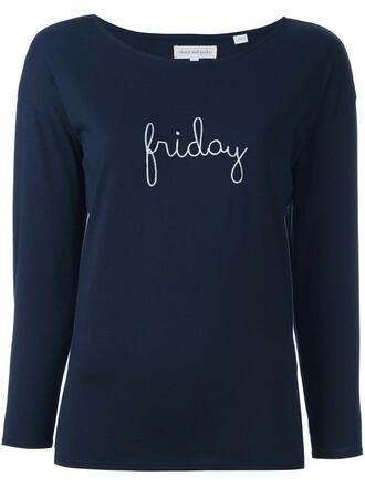 t-shirt shirt friday blue top