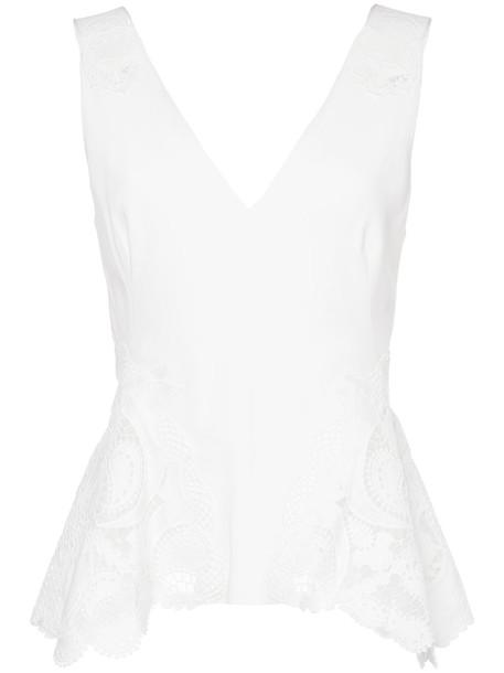 Jonathan Simkhai blouse women spandex white top