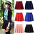 New Fashion Women High Stretch Waist Plain Skater Flared Pleated Mini Skirt | eBay