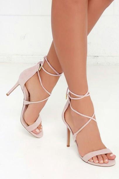 7053974de7d1 shoes pink heels pastel pink strappy heels heels