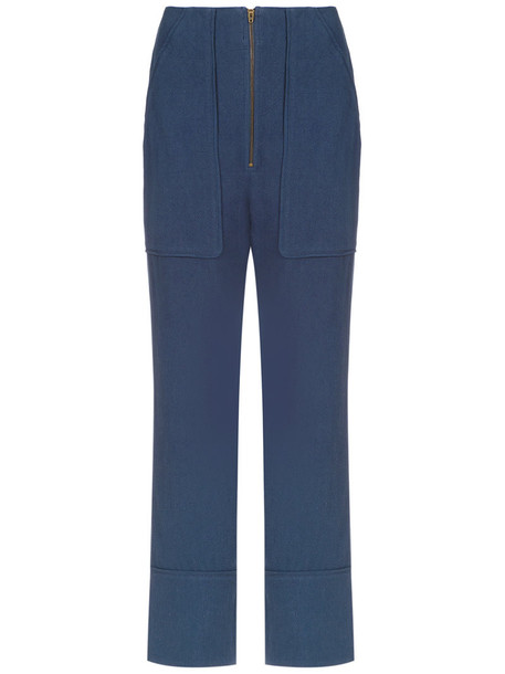 Olympiah women blue pants