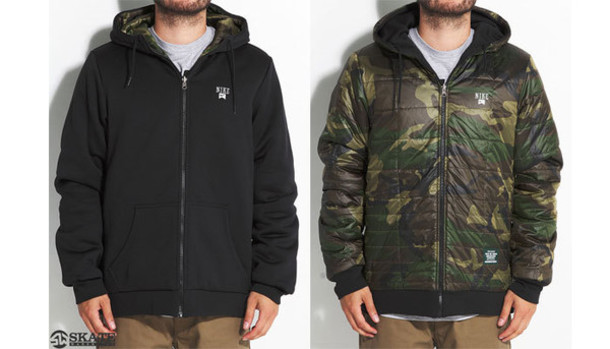 jacket coat cold sweater reversible hoodie camouflage camo jacket