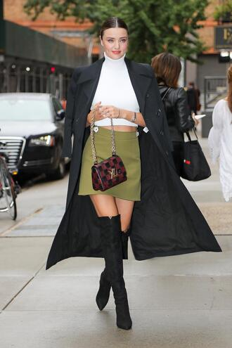 skirt mini skirt crop tops top miranda kerr nyfw 2017 ny fashion week 2017 streetstyle model off-duty fall outfits shoes
