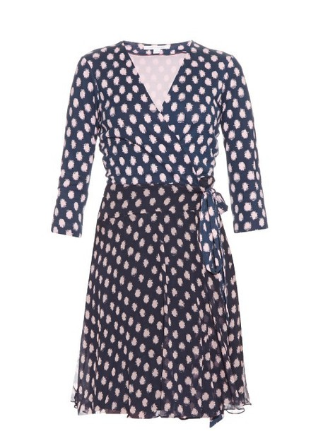 Diane Von Furstenberg dress navy print